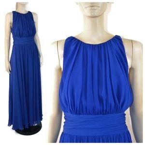 Badgley Mischka Blue Chiffon Corundum Gown 14